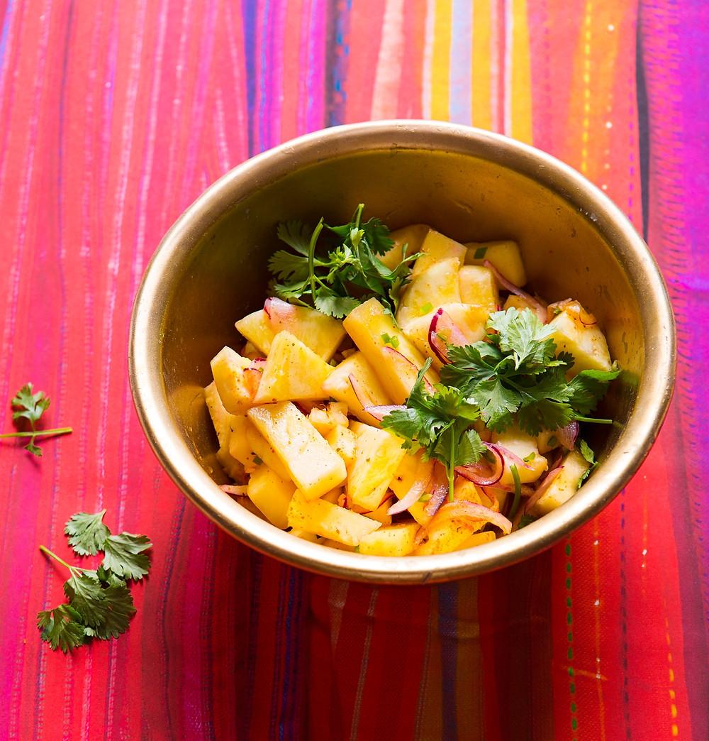 Ananasų čatnis, vmgonline.lt receptai, Alfo Ivanausko receptas, pagardai, indiški patiekalai
