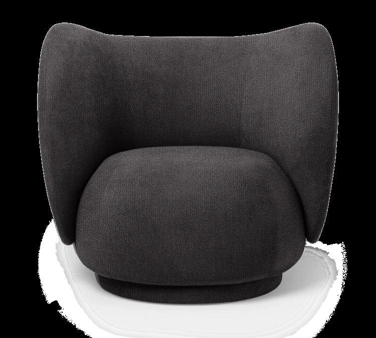 Lounge Chair, Boucle Chair, Black Boucle, Swivel Chair
