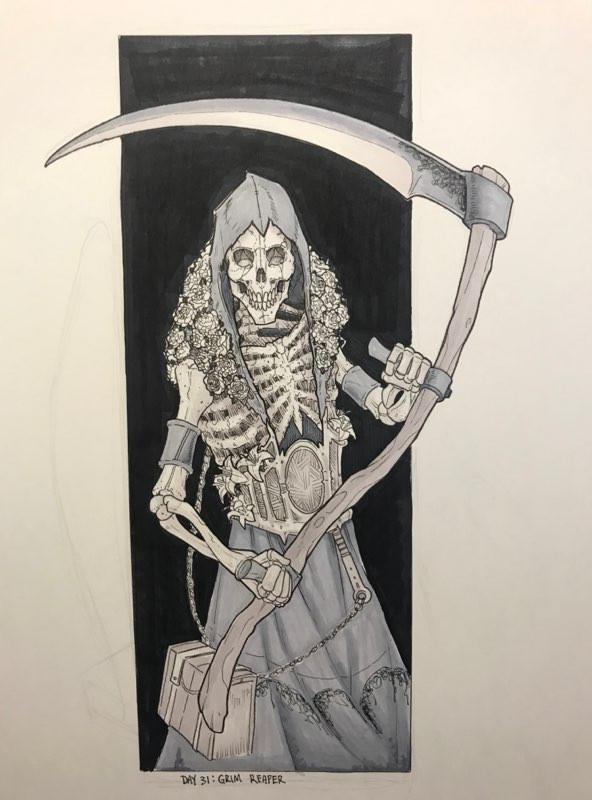 Inktober Reaper is proud of you!
