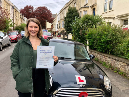 Congratulations to Bridget for passing First Time, only 3 minor faults m..