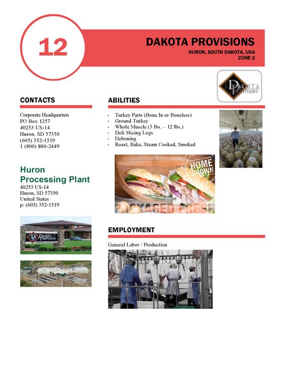 November 1st, 2020 pending openings for Dakota Provisions