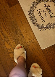 The coziest slippers...