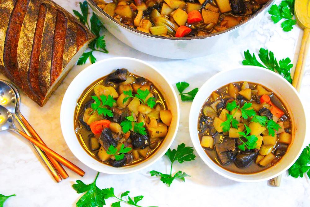 vegetable and portobello soup