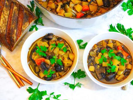 Hearty Vegetable Portobello Stew