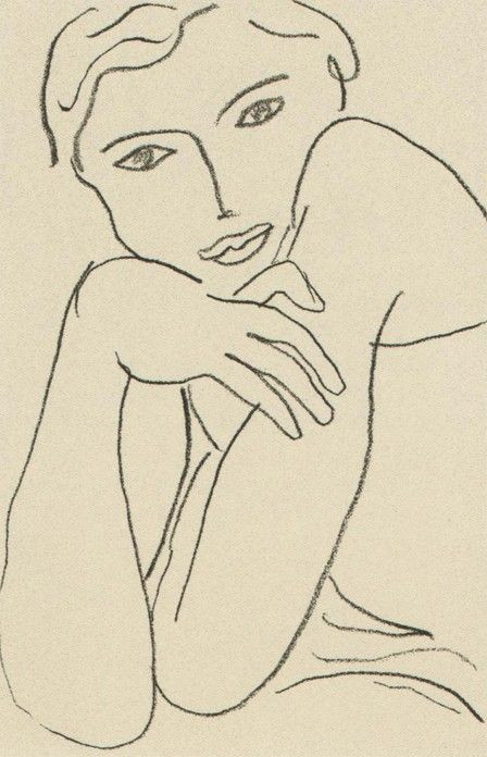 Line drawing of woman by Henri Matisse