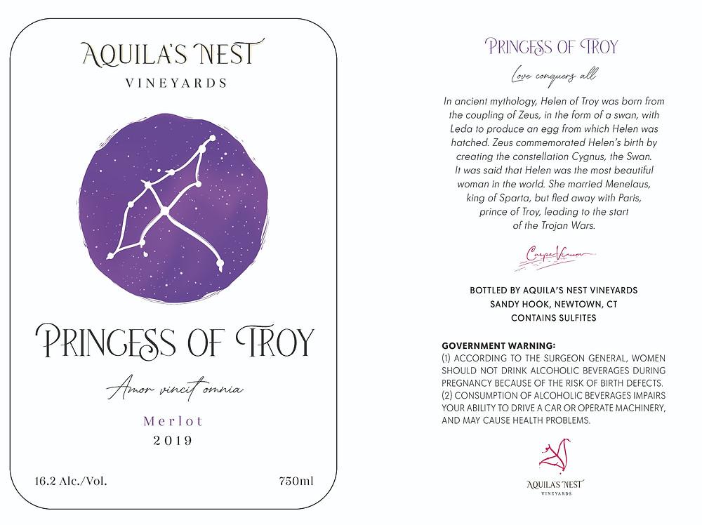 Aquila's Nest Vineyards Princess of Troy Label