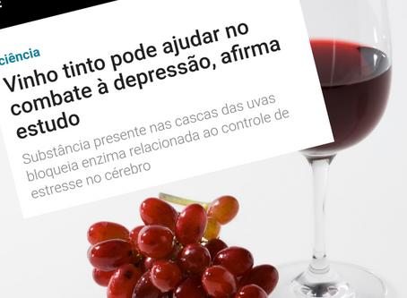 VINHO TINTO PODE AJUDAR NO COMBATE À DEPRESSÃO