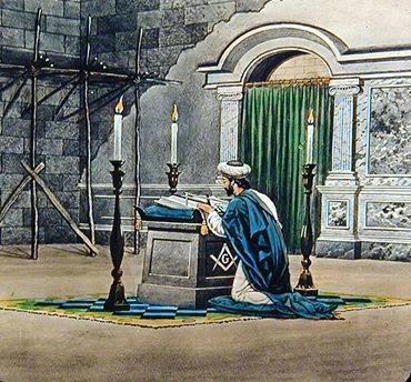 Maçonaria - Uma imagem magnífica  num Templo Maçónico