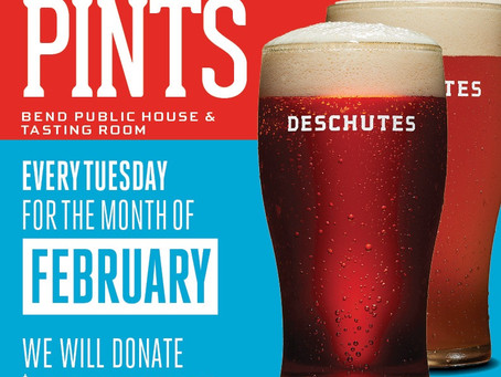 Upcoming: Deschutes Community Pints - Tuesdays in February