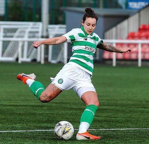 Celtic striker Sarah Ewens