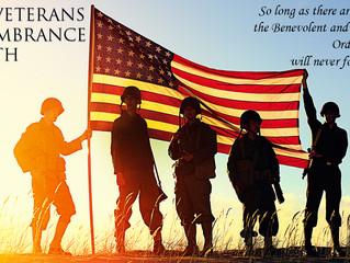November is Elks Veterans Remembrance Month