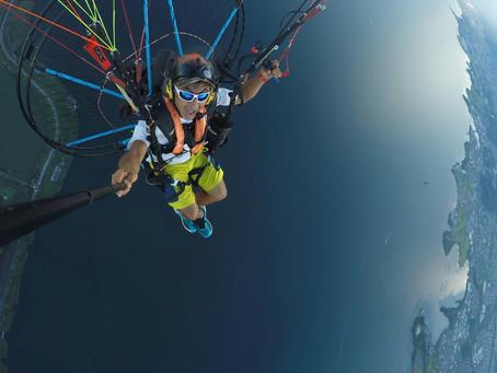 8月29日びわ湖上空1000m