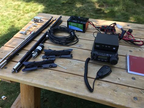 HF Portable Rig at 1760 ft Minnewaska State Park