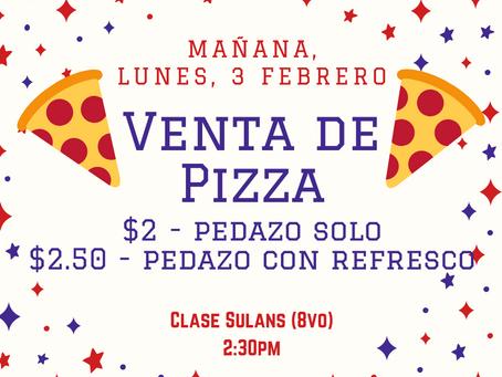 Venta de pizza, mañana (Clase 8vo)