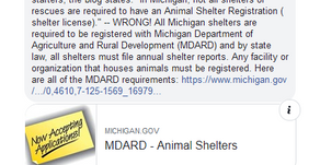 "Michigan Pet Fund Alliance Comments About ""No-Kill"" Label"