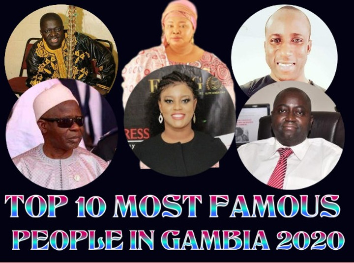 2020 most famous Gambians
