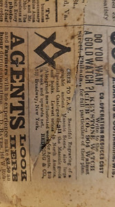 Newspaper dated from 1890