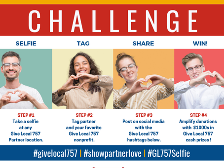 Take a Selfless #Selfie and help us win $$$!