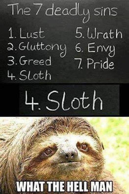 Funny 7 Deadly Sins Meme