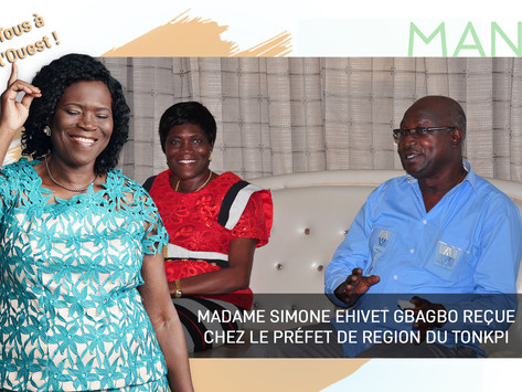 MAN 2019 : MADAME SIMONE EHIVET GBAGBO REÇUE CHEZ LE PRÉFET DE RÉGION DU TONKPI.