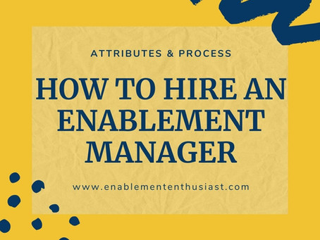 How to Hire an Enablement Manager