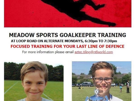 Goalkeeper Training, Monday 6:30pm to 7:30pm