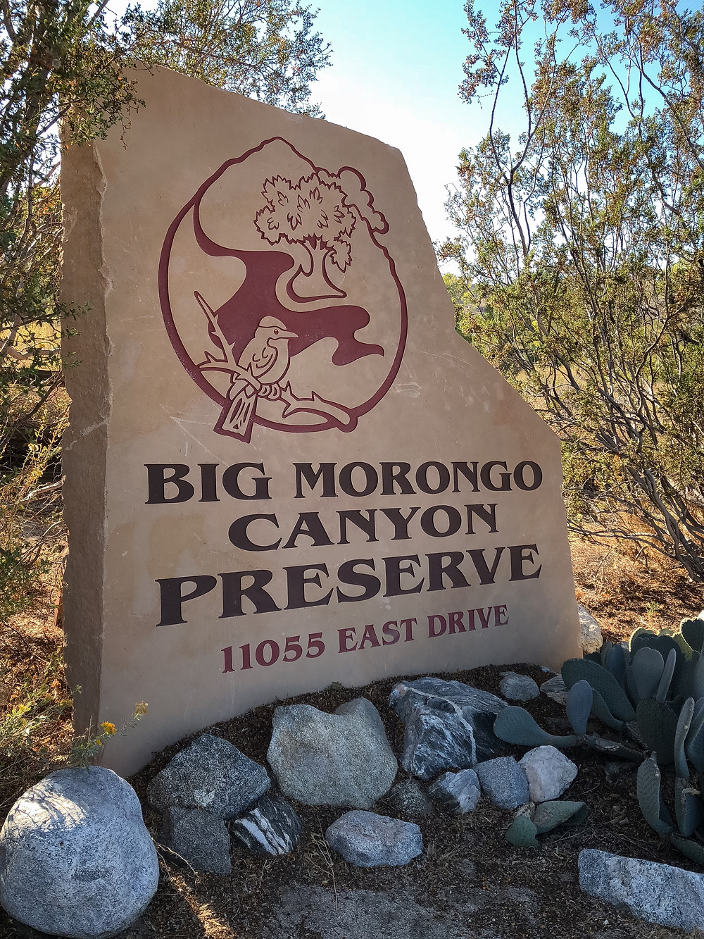 Entrance monument for Big Morongo Canyon Preserve