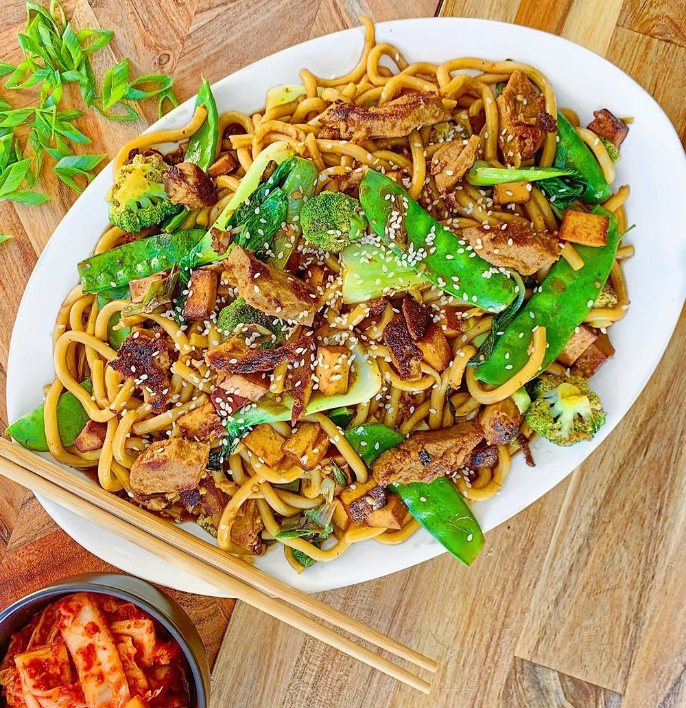 Meat free Buckwheat pasta with MEET strips