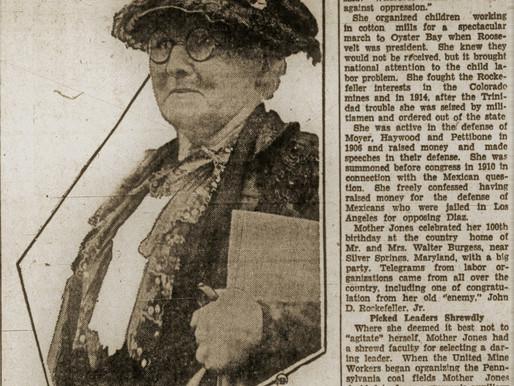 Mother Jones Died 90 years ago