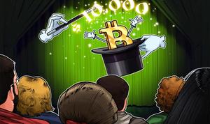 El precio de Bitcoin alcanza los USD 10,000 por primera vez en 2020, con hasta un 40% de ganancia