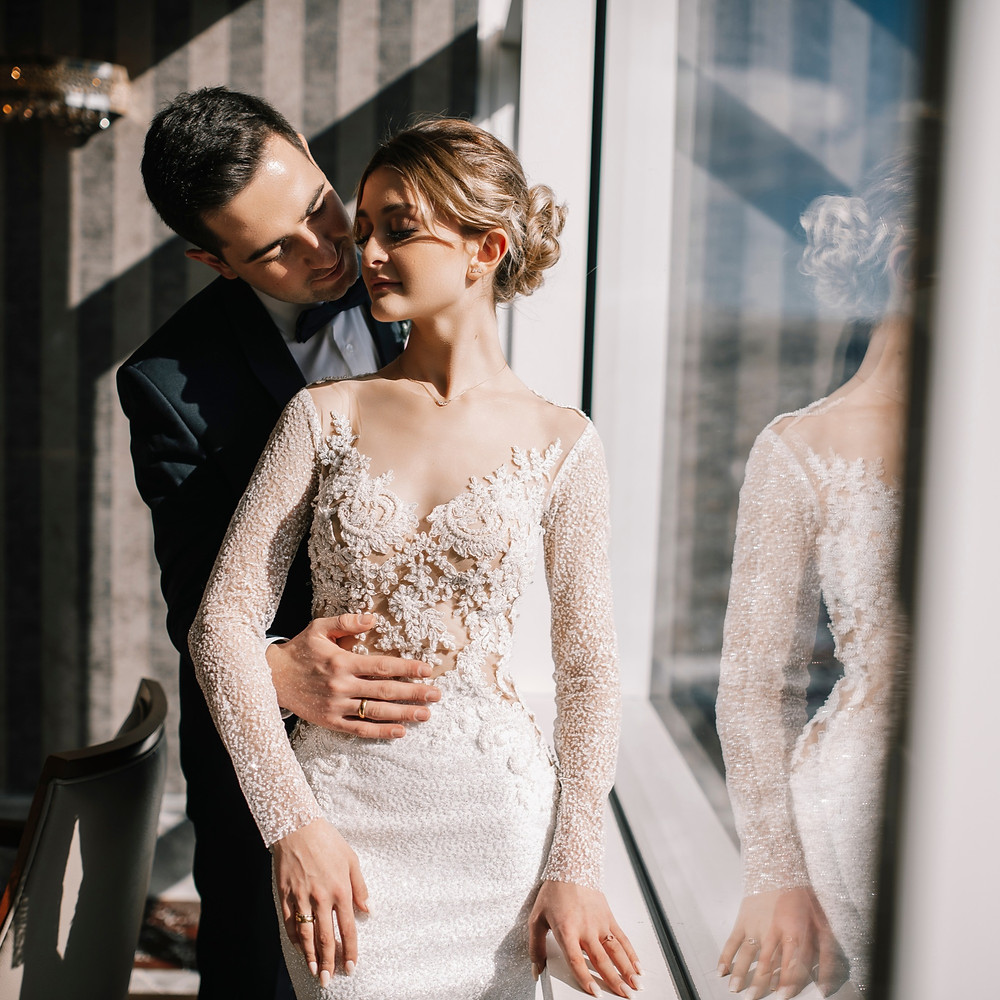 Figure Hugging Wedding Dress