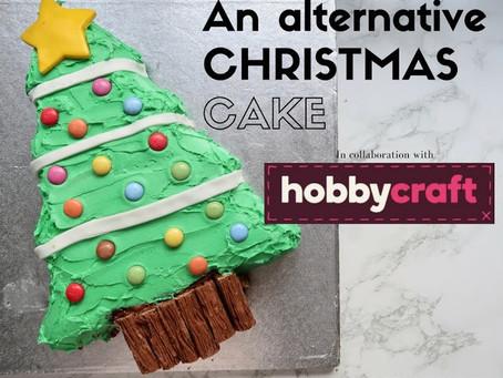 An alternative Christmas cake with Hobbycraft....