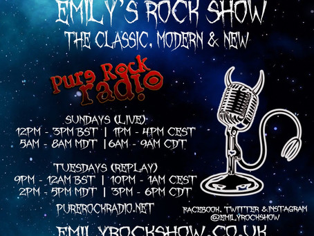 (Podcast) Emily's Rock Show (09/13 + 09/15)
