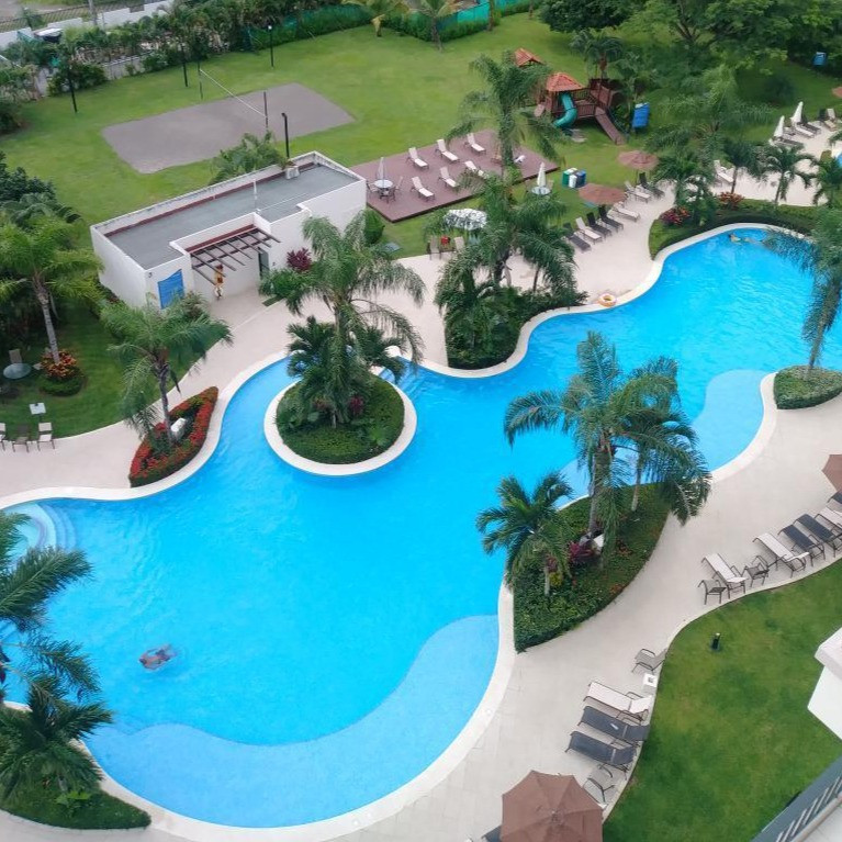 Large pool at AirBnb condo in Jaco Costa Rica