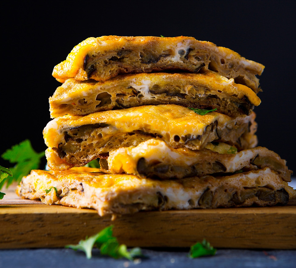 VMG receptai, tortilija su baklažanais