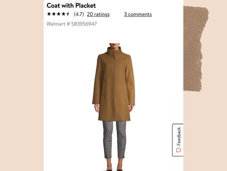 Walmart Funnel Neck Coat