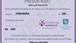 Presentkort till Örkelljungaborna som kan hjälpa företagen!