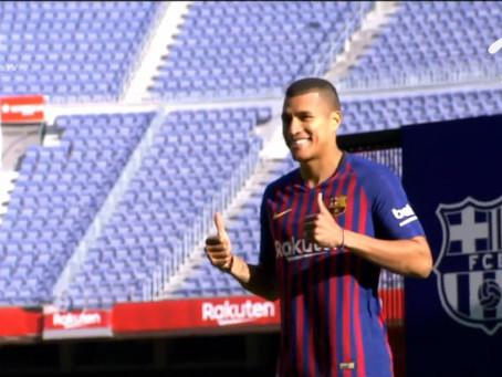 Jeison Murillo es presentado como nuevo jugador del Barcelona