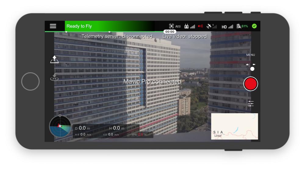 GCS.uno iOS app for DJI drones