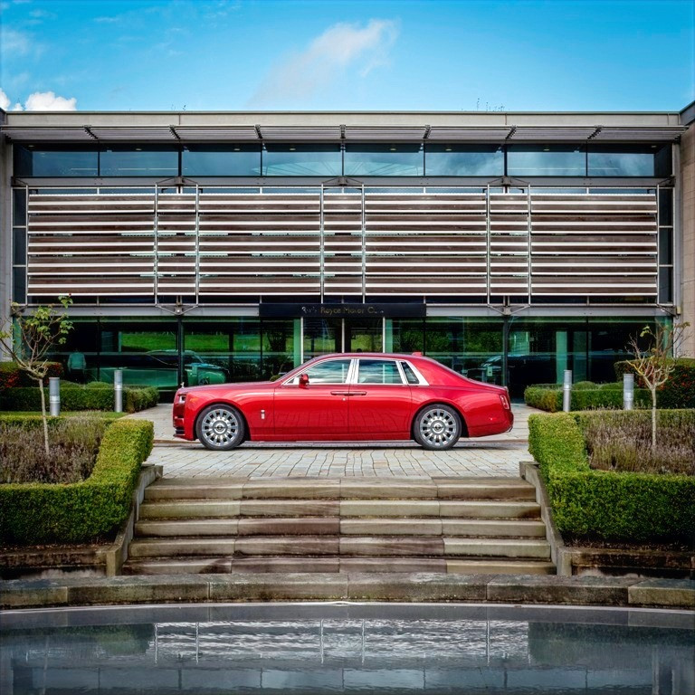 The House of Rolls-Royce Revealed Images of a Bespoke Red Phantom