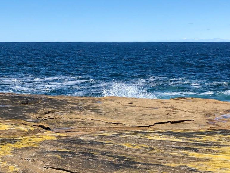 rocky beach at freshwater, australia, travel, ocean