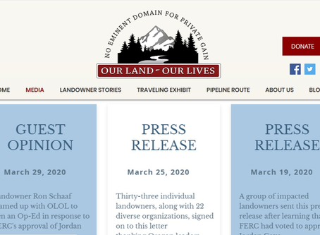 Our Land ~ Our Lives Adds Media Page to Website