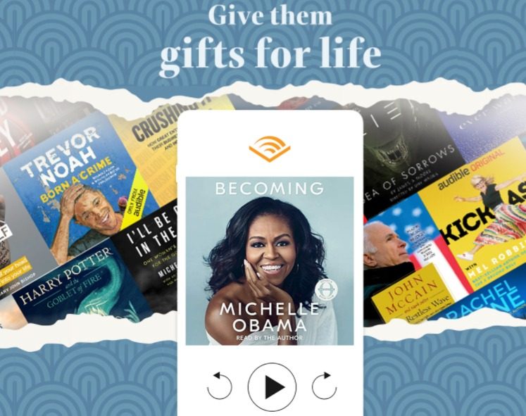 Audio books through audible