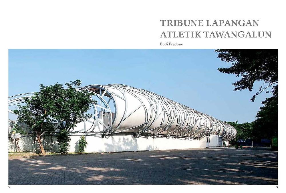 Tribune Lapangan Atletik Tawangalun Karya Arsitek Budo Pradono
