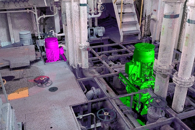 Identificación de bombas y tuberías de Sistemas de tratamiento de agua de lastre de barcos (BWT)