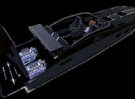 3D MODEL POWER BOAT.