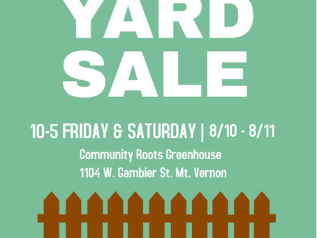 Rummage Sale to Raise Funds for Garden Fence!