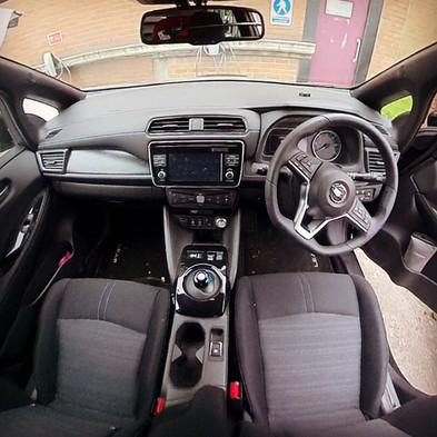 Inside view Nissan Leaf Dashcam Manchester