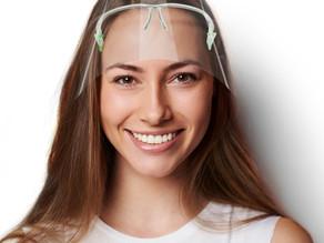 Gesichtsschutzvisiere / Face Shields: Reduktion des Expositionsrisikos bis zu 96%