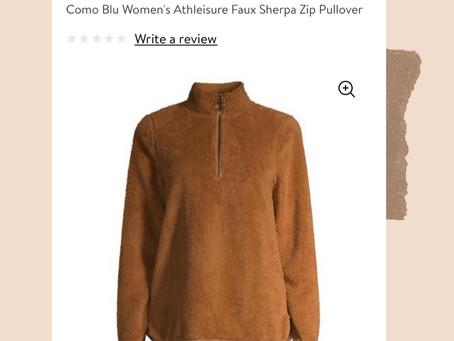 Walmart Sherpa Pullover